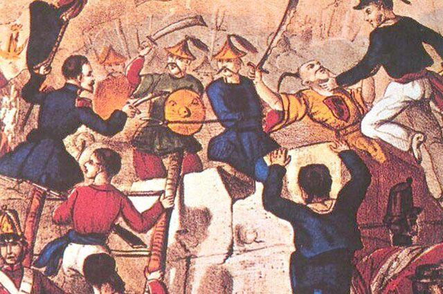 Первая Опиумная война. Битва при Гуанчжоу.