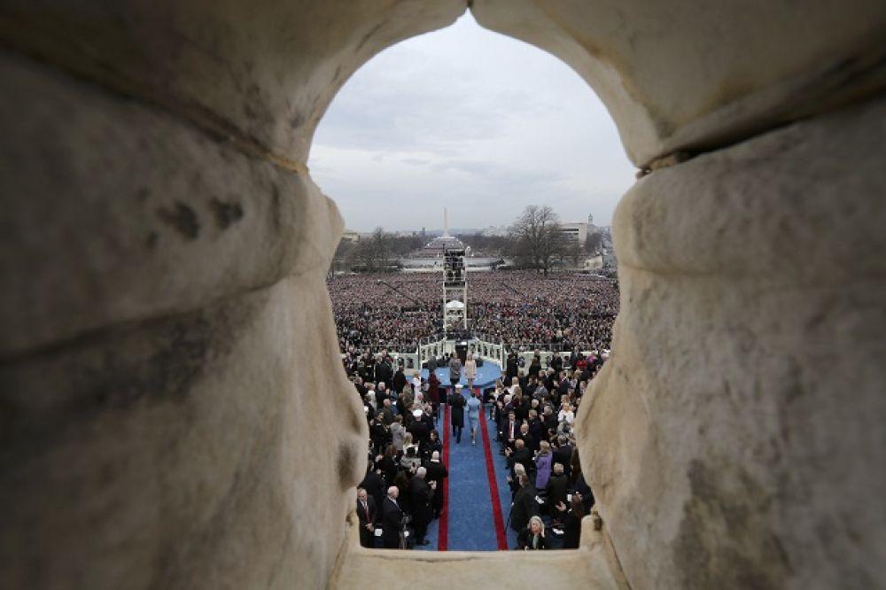 Мелания Трамп на церемонии инаугурации.