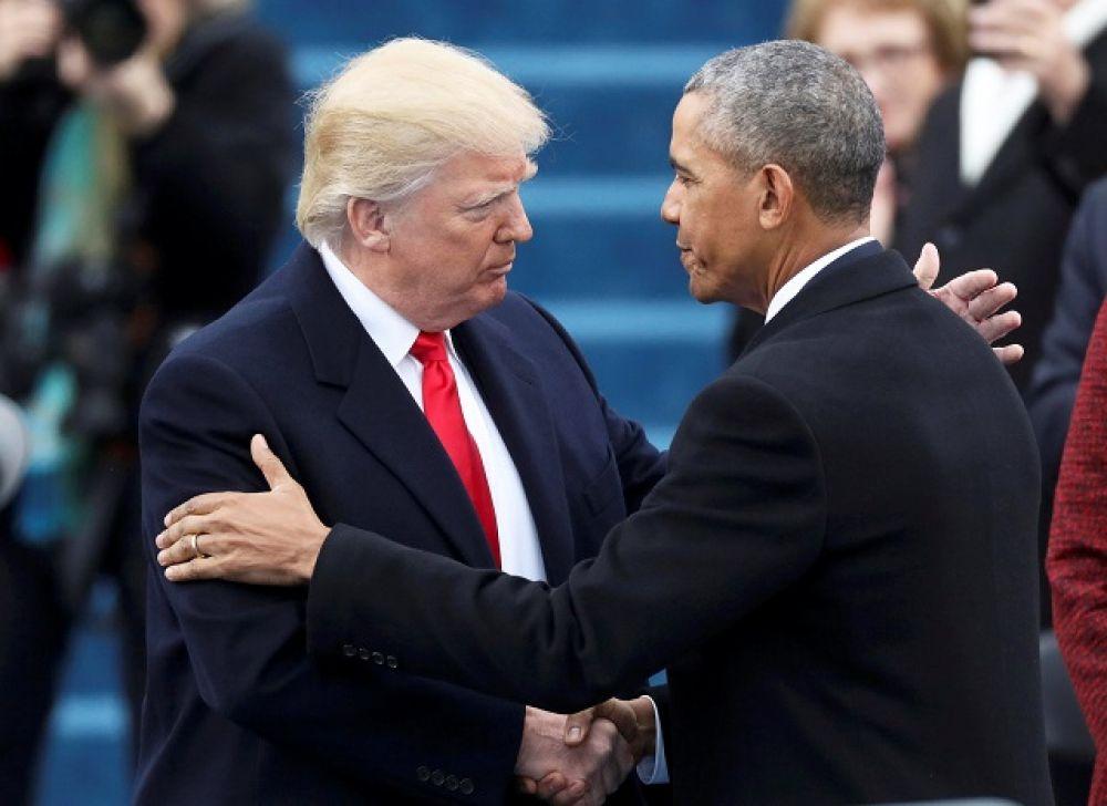 Барак Обама поздравил Трампа со вступлением в должность.