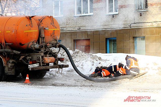 ВКрасноярске впроцессе ремонта крыши дома хлынул немалый фонтан кипятка