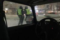 На месте аварии работают сотрудники ГИБДД