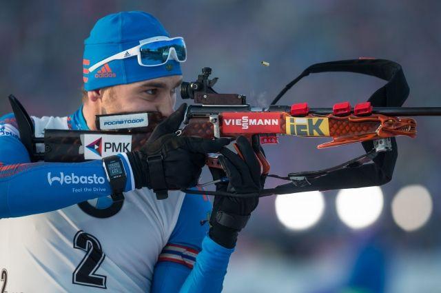 Антон Шипулин одержал победу персональную гонку наКубке мира побиатлону