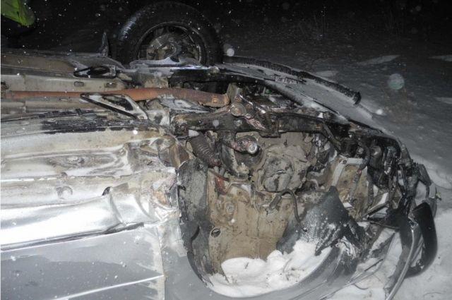 На трассе Оренбург-Беляевка автомобиль «Opel» вылетел в кювет