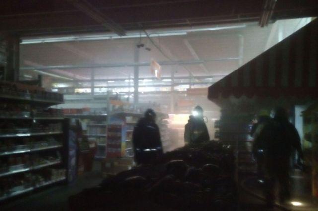 Вбрянском коммерческом центре «Домино» случился пожар