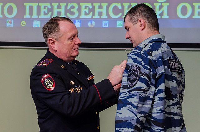 Прапорщик полиции Александр Трещев получил медаль «За отличие в охране общественного порядка».