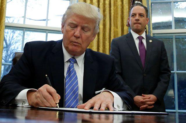 Трамп подписал указ овыходе США изТТП— Сдержал слово