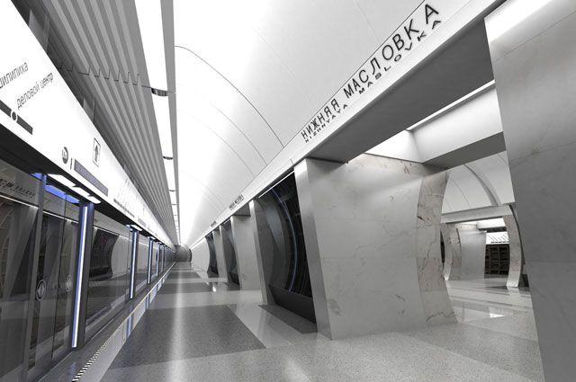 «Нижняя Масловка» - самая глубокая станция Третьего пересадочного контура.