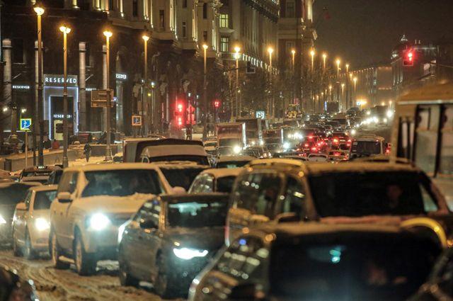 Пробки в столице России достигли 8 баллов утром всреду