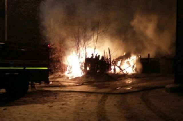 Пожар в Иркутске.