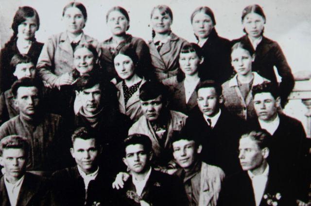 Группа подпольщиков в селе Величаевское на Ставрополье.