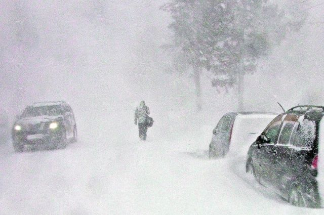 Из застрявших на трассе автомобилей эвакуируют людей