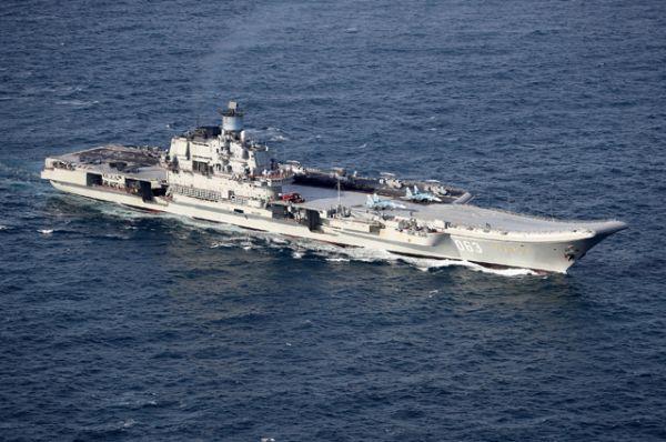 Российский тяжёлый авианесущий крейсер «Адмирал Кузнецов».