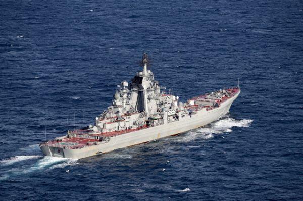 Российский тяжёлый атомный ракетный крейсер «Петр Великий».