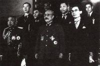 Таиландская делегация с премьер-министром Японии Хидэки Тодзио. Токио, 1942 год.