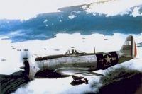 Истребитель-бомбардировщик P-47 мексиканской 201-й эскадрильи.