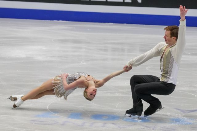 Евгения Тарасова и Владимир Морозов на чемпионате в Чехии.