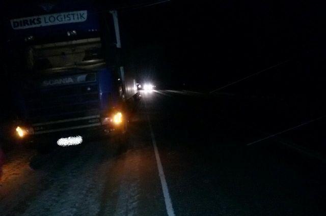 Столкновение ВИС-2345 со встречным грузовиком Scania