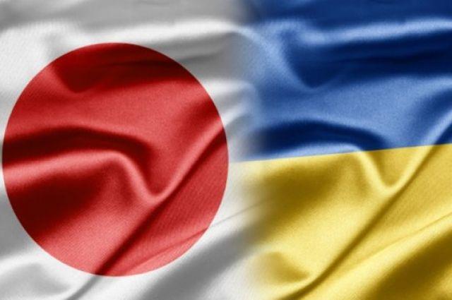 Флаги Японии и Украины