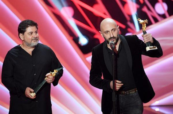 Лауреаты премии в номинации «Лучший телефильм или мини-сериал (до 10 серий)» за фильм «Клим» продюсер Александр Цекало и режиссёр Карен Оганесян.