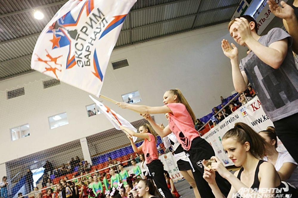 Болельщики из Барнаула поддерживают свою команду