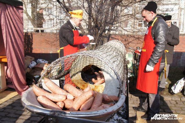 В Калининграде готовятся отметить кенигсбергский Праздник Длинной колбасы.