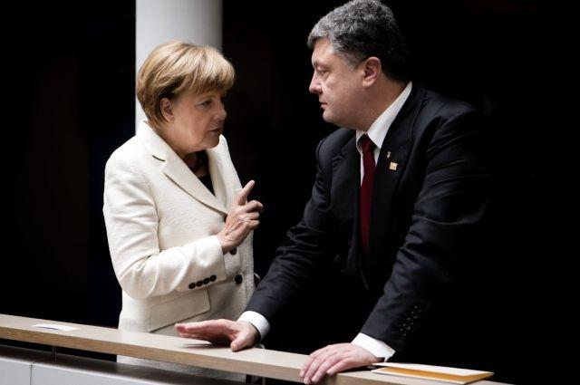 Ангель Меркель и Петр Порошекно