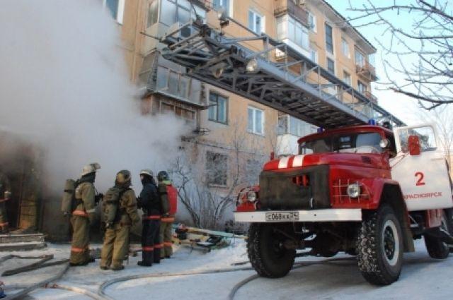 Изспорткомплекса «Сокол» вКрасноярске эвакуировали 36 человек из-за пожара