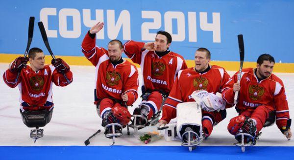 Сборная России по следж-хоккею.