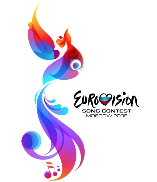 Евровидение – 2009 прошло в Москве. Логотипом конкурса стала «Птица Фантазии» — Жар-птица, традиционный персонаж русских сказок. В этом году у конкурса не было девиза.
