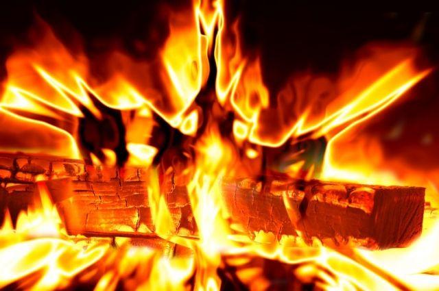 Площадь пожара составила 600 кв. м.