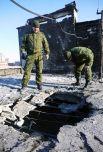 Поврежденная крыша 9-ти этажного жилого здания по улице Куйбышева в Донецке, пострадавшая в результате обстрела украинскими силовиками.
