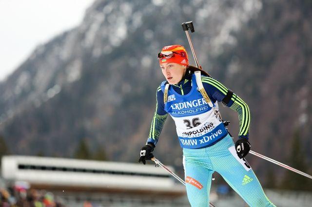 Дисквалификацию украинской биатлонистки Абрамовой приостановлили
