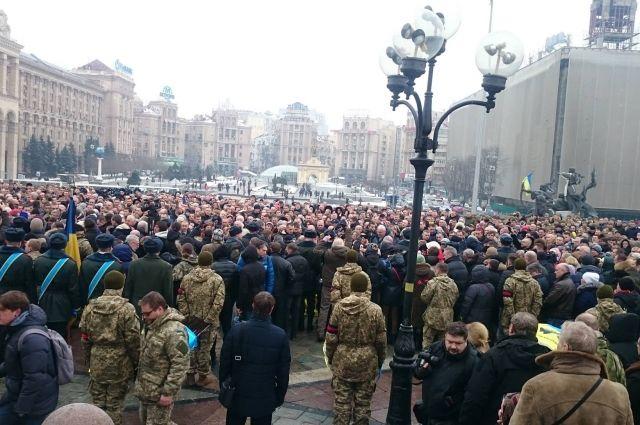 Прощание с погибшими под Авдеевкой бойцами ВСУ