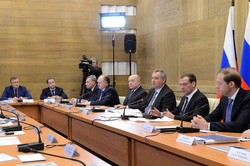 Здесь же, в здании «Алмаз-Антея» прошло совещание, в котором приняли участие главы крупнейших корпораций.