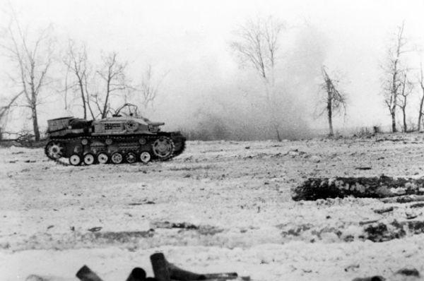 Уничтоженные советскими воинами танки противника.