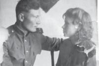 Леонид Рязанцев с женой 1944 год.