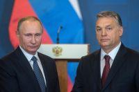 Президент РФ Владимир Путин и премьер-министр Венгрии Виктор Орбан.