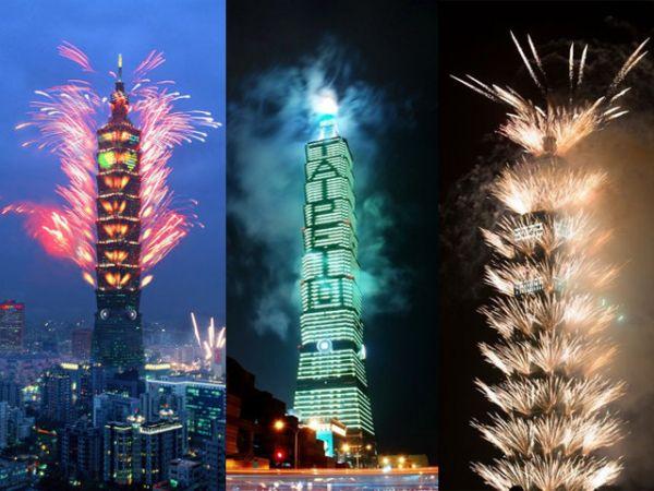 В столице Тайваня есть небоскреб высотой в 509 метров и в нем самые быстрые лифты в мире, которые довозят людей наверх со скоростью 60 км/ч!