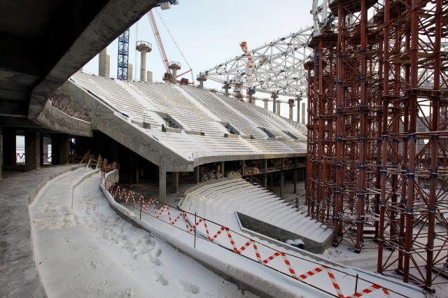 Строящийся стадион к ЧМ-2018 в Нижнем Новгороде