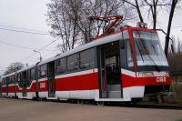 На Борщаговской линии скоростного трамвая уже курсируют 10 трамваев производства польской компании PESA и два – «Электрон»