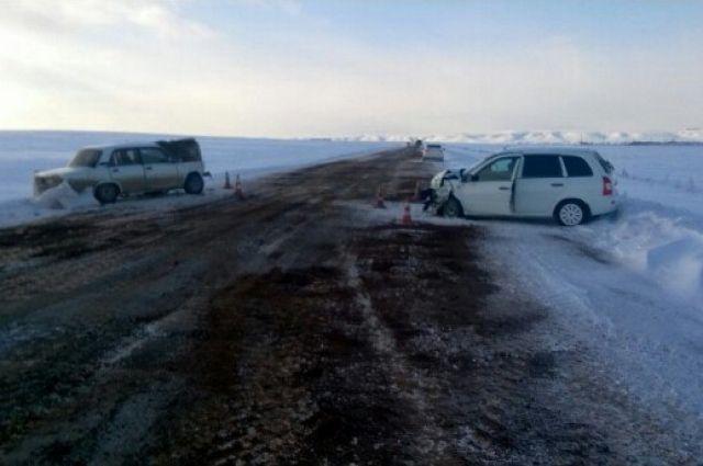 ВБугурусланском районе столкнулись «Калина» иВАЗ. Есть пострадавшие