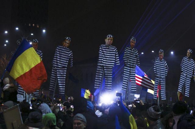ВРумынии митингующие требуют отставки руководства
