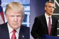 Президент США Дональд Трамп и генсек НАТО Йенс Столтенберг