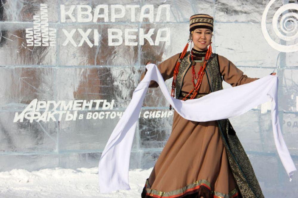 Библиотеку открыли красивым народным танцем коллектива «Ангара».