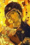 Иконопись Византийской империи не только стала родоначальницей некоторых национальных культур (например, Древнерусской), но и на протяжении всего своего существования оказывала влияние на иконопись других православных стран. Владимирская икона (начало XII века, Константинополь).