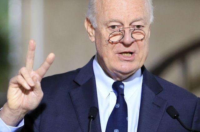 Спецпосланнику ООН поСирии Стаффану деМистуре грозит отставка