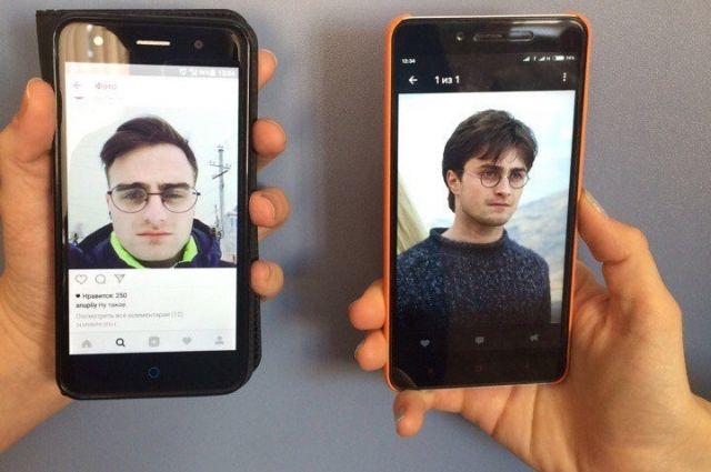 Дэниэлу Рэдклиффу показали фотокарточку его двойника изКрасноярска