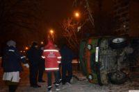 В Николаеве перевернулась машина скорой из-за пешехода, который внезапно выбежал на дорогу