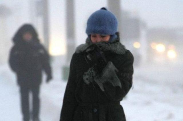 МЧС: аномальные морозы и сильный ветер не покидают Оренбуржье