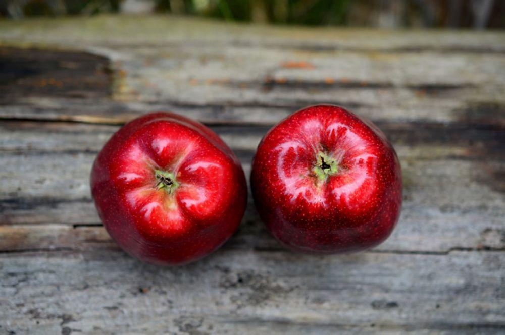 Яблоки. Твердые фрукты рекомендуются для укрепления зубов.